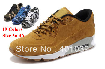 Hotsale Air 90 VT Trainers Running Shoes Suede&Felt land navy air Wholesale Athletic Sport Shoe Lovers Free Drop shipping 36-46(China (Mainland))