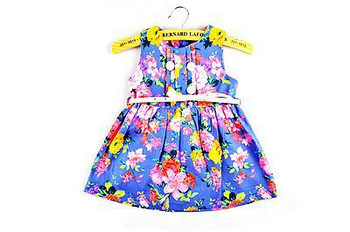 Summer 2013 new fashion child clothing with high quality 100% cotton design girls printing dress for 2-7T children wear,A1(China (Mainland))
