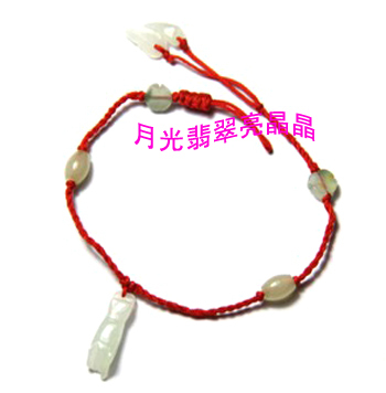 Natural red jade knitted bracelet apotropaic disappearing red anklets(China (Mainland))