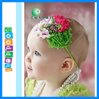 2013 Baby headband vintage headbands shabby chic roses Hair Bands Infants Toddlers Girls hairband Flower Hair Bows 10pcs
