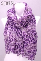 Min.order is $10 (mix order)New Women's leopard print a overlong shawl &Scarf Stole for four seasons SJ0751 Free Shipping
