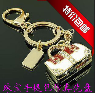 64g personalized jewelry handbag usb flash drive lovers keychain quality holiday gift