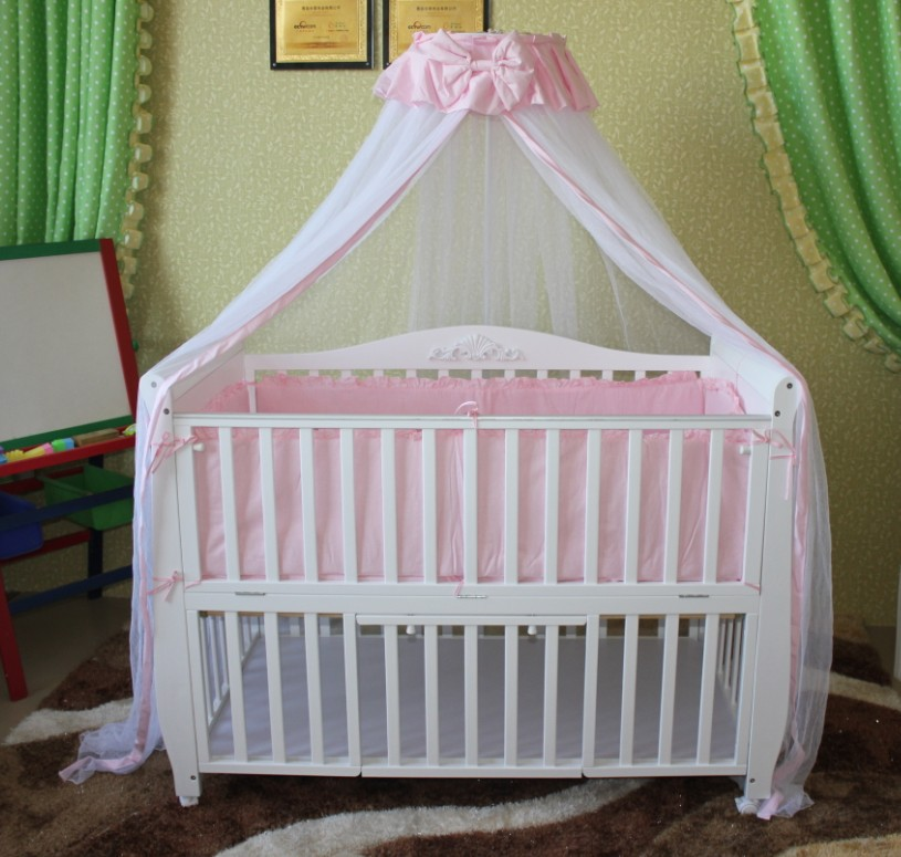 Luxury solid wood baby bed solid wood baby bed child bed desk sofa multifunctional(China (Mainland))