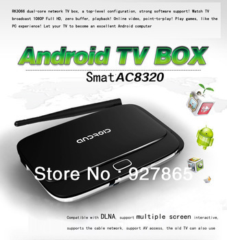 HD high speed RK3066 dual-core Android player set-top box Android TV box HD Android4.1 WIFI TV receiver(China (Mainland))