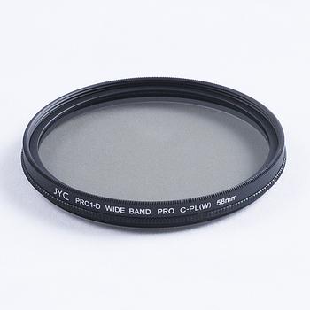 Free Shipping JYC 58mm Pro Super Slim Circular Polarizing C-PL CPL Filter For DSLR Cameras Camcorder Lens