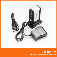 High Speed USB 2.0 7 Port HUB Powered +US AC Adapter Cable free shipping