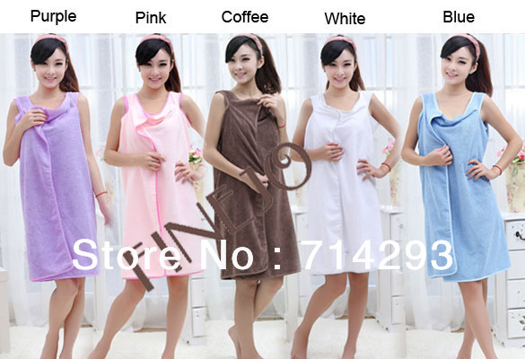 Unisex Microfiber towels soft bath towel bathrobe bath dress beach drop shipping 16117(China (Mainland))