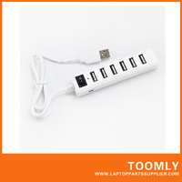 Hot sell popular 7 ports USB HUB Mini USB 2.0 HUB  free shipping
