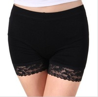 2013 Ice Silk Lace Absorb Sweat Elastic Sexy  Pants Leggings Wholesale 4PC/LOT Free Size Can Mix Color 13052655