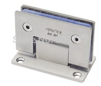 Solid stainless steel shower room glass door hinge ,90 degrees , The type 304 glass clamp ,