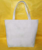 Free Shipping Diy blank canvas bag canvas bag shopping bag white horizontal large customize