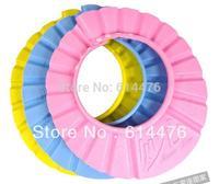Free shipping 50pcs/lot Lovely Soft Child Kid Shampoo Bath Shower Cap , Baby Wash Hair Shield Hat ,Yellow / Pink / Blue