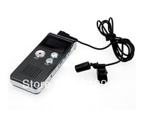 Rechargeable 4GB 4G USB VOR 650Hr Digital Audio Voice Recorder Dictaphone MP3 Player Black Free shipping ,5pcs/lot