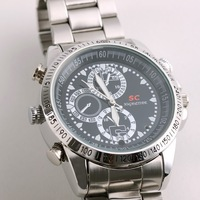 4GB Metal Watch SC Mini Camera Waterproof Digital Camera Camcorder Video recorderFree Shipping