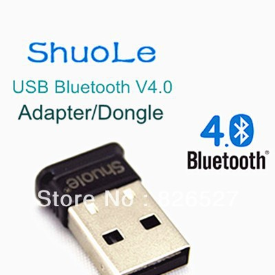 Hot Sale New Brand ShuoLe Mini USB Adapter Bluetooth V4.0 Dongle Wireless for PC Adapter With Free Drive Disk Free Shipping(China (Mainland))