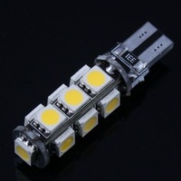 2 pcs Error Free CANBUS T10 W5W 194 168 2825 2821 Car Warm White 13 SMD 5050 LED Light Bulbs DC 12V