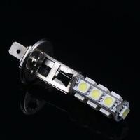 Free Shipping! 2 pcs H1 5050 SMD 13 Car LED White Light Headlight Lamp Bulb,Side marker and Backup lights DC 12V