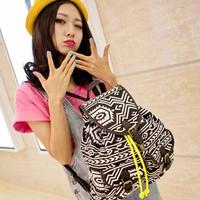 Free Shipping Fashion tassel 2013 double-shoulder women's handbag trend geometry shaped vintage female backpack