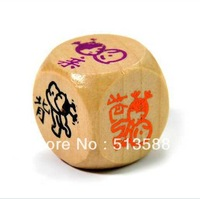Free shipping creative wooden square interest dice dice drinking can be wholesale