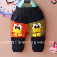Free Shipping(4 pieces/lot) 2013 New Arrival children autumn trousers/fashion  cartoon duck design kids full trousers wholesale