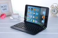 80pcs/lot 7.9 inch Tablet PC Wireless Aluminum Bluetooth Keyboard Protector Stand Cover for iPad Mini free shipping