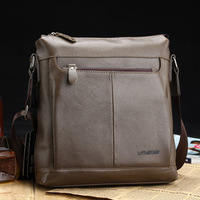 2013 Hot Selling Lychee leather bag male shoulder bag genuine leather casual bag messenger bag/ 2012-3