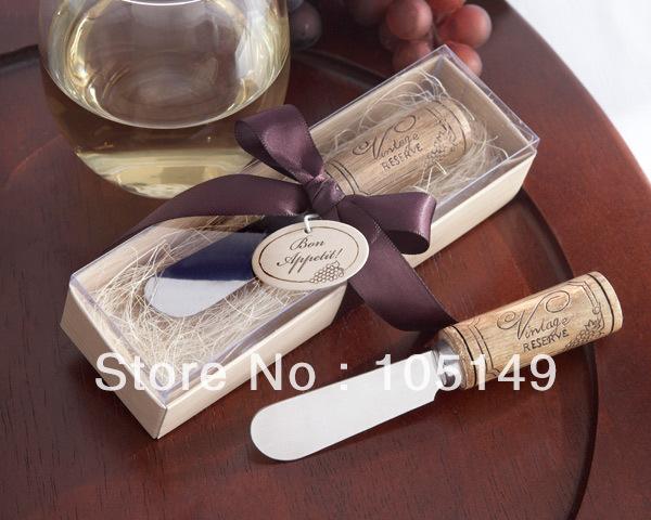 Aliexpress Buy Wedding Giveaways Vintage Reserve Stainless Steel Spreader With Wine Cork