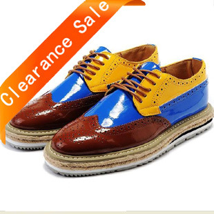 size 39-44 Men's Shoes.Korean fashion color matching Casual thick-soled leather shoes lace-up increasing Low for shoes B1008(China (Mainland))