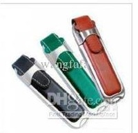 Wholesale - 1 PCS lot Leather USB 2.0 Flash Drives 256GB Memory Sticks Pen Drives Disks pendrives