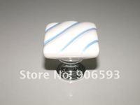 10pcs lot free shipping Porcelain square pastoralism cabinet knob\porcelain handle\porcelain knob