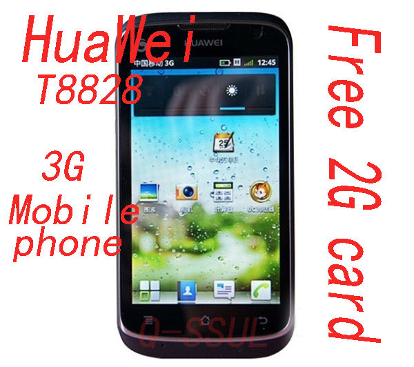 HuaWei T8828 Mobile phone 3G/business 500MPX camera smart cellphone 2G card free shipping(China (Mainland))