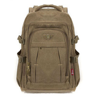 Canvas backpack man bag travel bag large capacity casual 14 15 laptop bag backpack