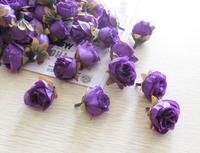 Deep Purple 50pcs/lot Artificial Silk Flower Head Wedding Party Decoration Flower Silk Flower 17Colors Free shipping