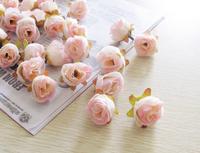 Flesh Pink 50pcs/lot Artificial Silk Flower Head Wedding Party Decoration Flower Silk Flower 17Colors Free shipping