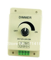 Wholesale DHL Free shipping New 12V 8A 96W Adjustable Brightness Controller LED Dimmer