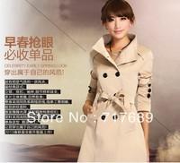 Free shipping hot models ladies fashion elegant slim outdoor windbreaker jacket windbreaker coat women's casual coat