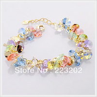 Free Shiipping  High Quality Accessories Bracelet Jewelry Fashion Crystal Women bracelet candy multicolour