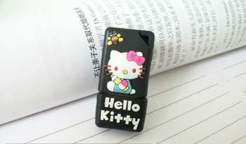 Wholesale Hot Cartoon Hellokity Cute 4GB 8GB 16GB 32GB 64GB USB 2.0 Flash Memory Stick Drive Thumb/Car/Pen Free Ship Gift