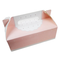 Wholesale 50pcs Pink Lace designer cupcake boxes wedding party favor disposable cake containers free shipping by EMS / DHL