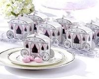 100pcs Carriage Favor Box Favour Wedding Box Pumpkin Carriage Wedding Box  B002