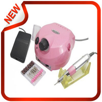 File + Foot Pedal + Box Pedicure Pen +6 Bits Good Quality Electric Nail Manicure Polishing Machine Drill 110v/220v ,FreeShipping