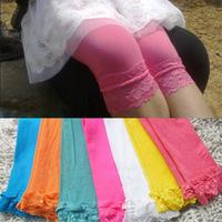 12 pcs/lot baby girl velvet legging kids candy color lace  girl fashion summer cute dress
