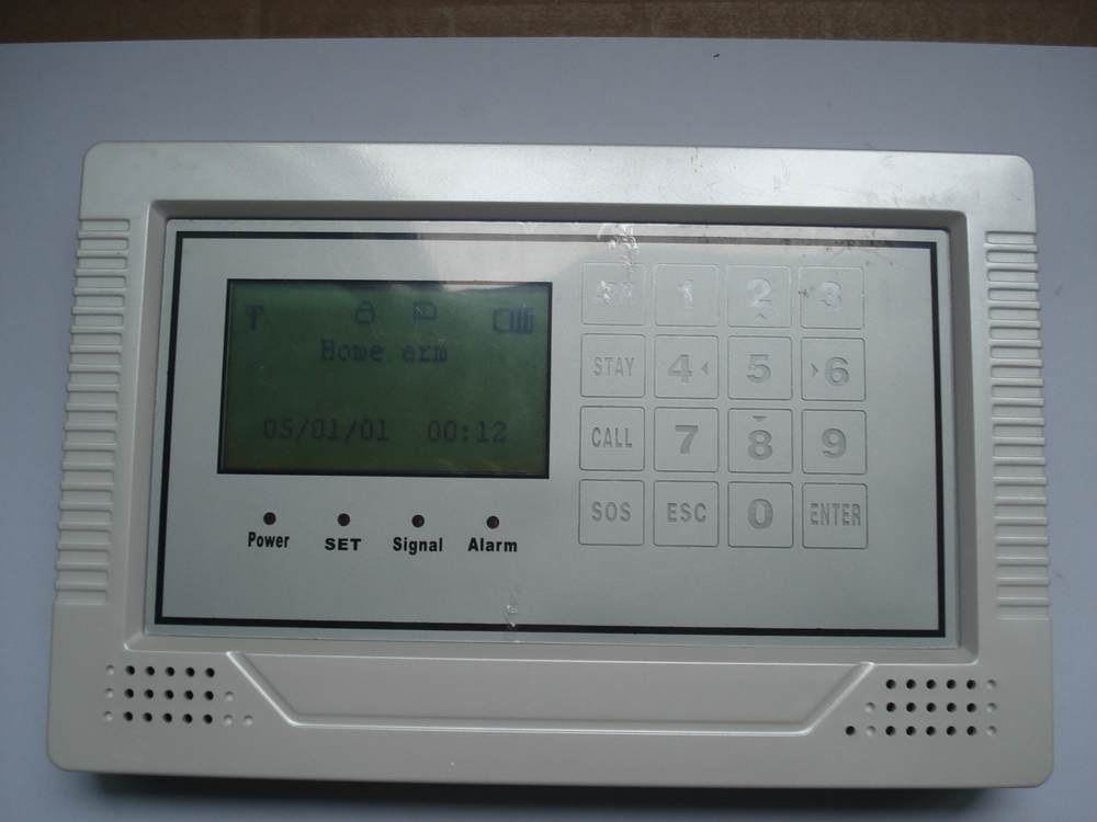 GSM wireless burglar home security alarm with TOUCH keypad, LCD display(China (Mainland))