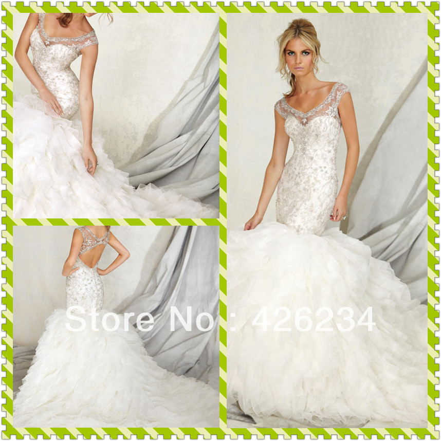 Free shipping 2013 New Arrival Sexy Charming Ball Gown Sweetheart Crystal & Beaded Wedding Dresses Bridal Gown Bride Dresses(China (Mainland))