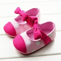Free shipping,wholesale 6 pairs/lot,butterfly-knot princess baby shoes soft sole toddler shoes pre-walker fist walker shoes
