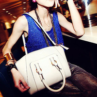 2013 autumn women's handbag crocodile pattern shoulder bag fashion handbag vintage BOSS big bags