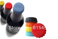 Free shipping 20pcs/lot Novelty silicone bottle lid beer lid  wholesale