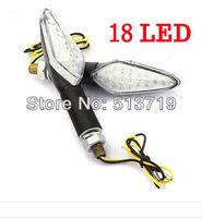 Free shipping 2x 18 LED Motorcycle Motorbike Turn Signal Lights Indicators Blinker Amber 12V