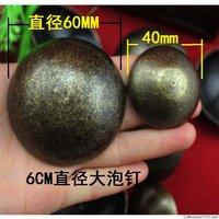 Big size 60MM VTG style bronze nail for sofa & door wholesale broad  box decorative bubble nail