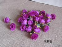 50Pcs/lot Artificial Silk Flower Head Wedding Party Decoration Flower Silk Flower Show Simulation flowers Purple